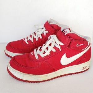 Nike Air Force 1 Mid Canvas B VarsityRed Size#10.5